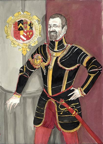 Natalie Dekel - Drawing past-lives - Roger, Medieval knight (painted in 2007)