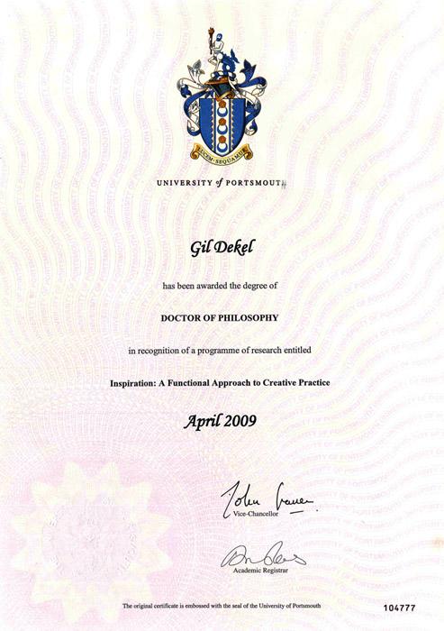 Gil Dekel - PhD Portsmouth Uni