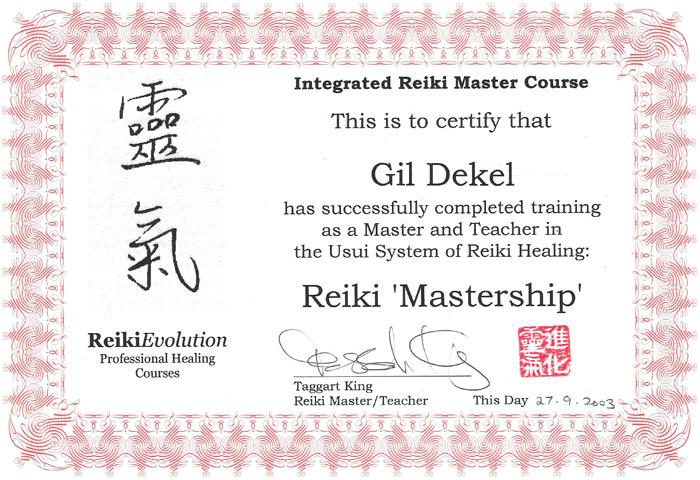 Gil Dekel - Reiki Mastership