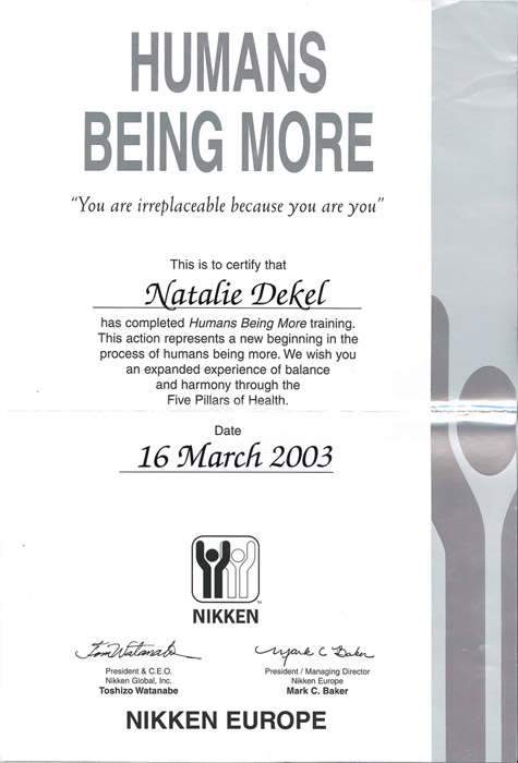Natalie Dekel - Humans Being More