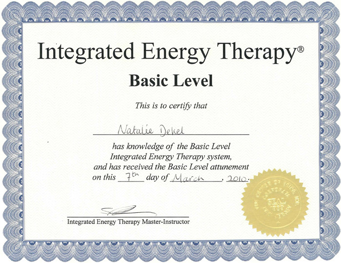 Natalie Dekel - Integrated Energy Thetapy