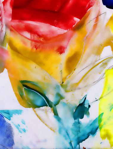 The Rose of Love (details) - Natalie Dekel, 22 May 2010, Encaustic wax painting.