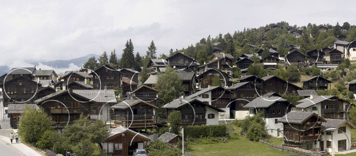 2009-Cercle-et-suite-d'eclats-(Vercorin-Switzerland)-Felice-Varini