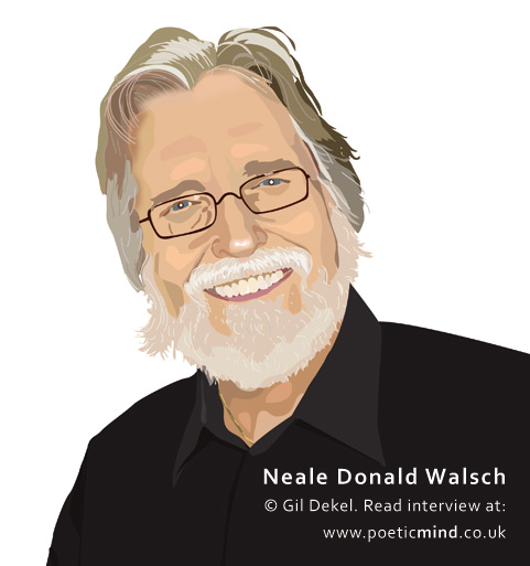 Neale Donald Walsch (portrait © Gil Dekel). Interview at www.poeticmind.co.uk