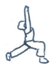 Yoga Practice and Postures: Stretching with Light.