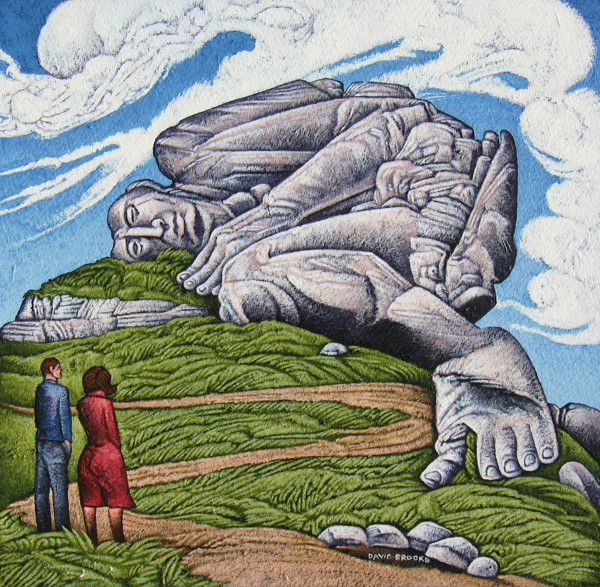 David Brooke - 'Figures in a Landscape 1 - The Rocky Tor'