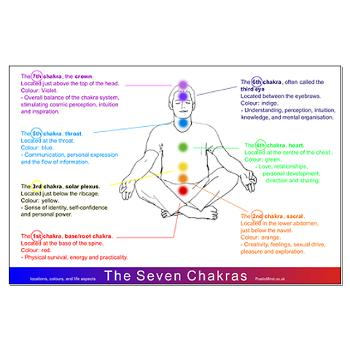 7 chakras diagram posters