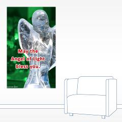 angel of light blessing - wall decal
