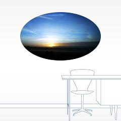 sunset - photography - wall decal
