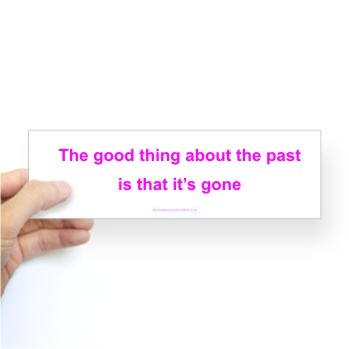Poetry stickers - The Past is Gone - by Gil Dekel