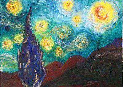 'After Van Gogh' – by Natalie Dekel, May 2020.