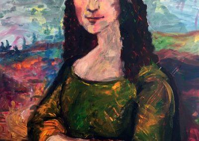 Painting Mona Lisa – by Natalie Dekel, May 2020.