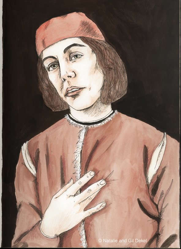 Self Portrait Italy 15th century - by Natalie Dekel, 2004.