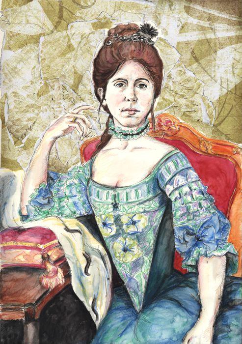 Self-portrait as Marie Antoinette (by (c) Natalie Dekel, 2011)