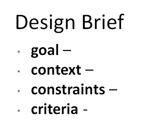 how to write a design brief