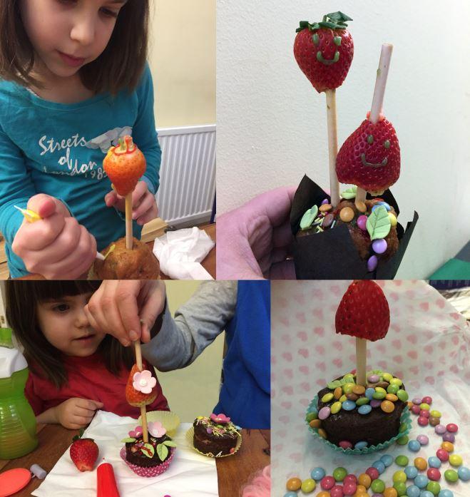 Strawberry Tree Cupcakes
