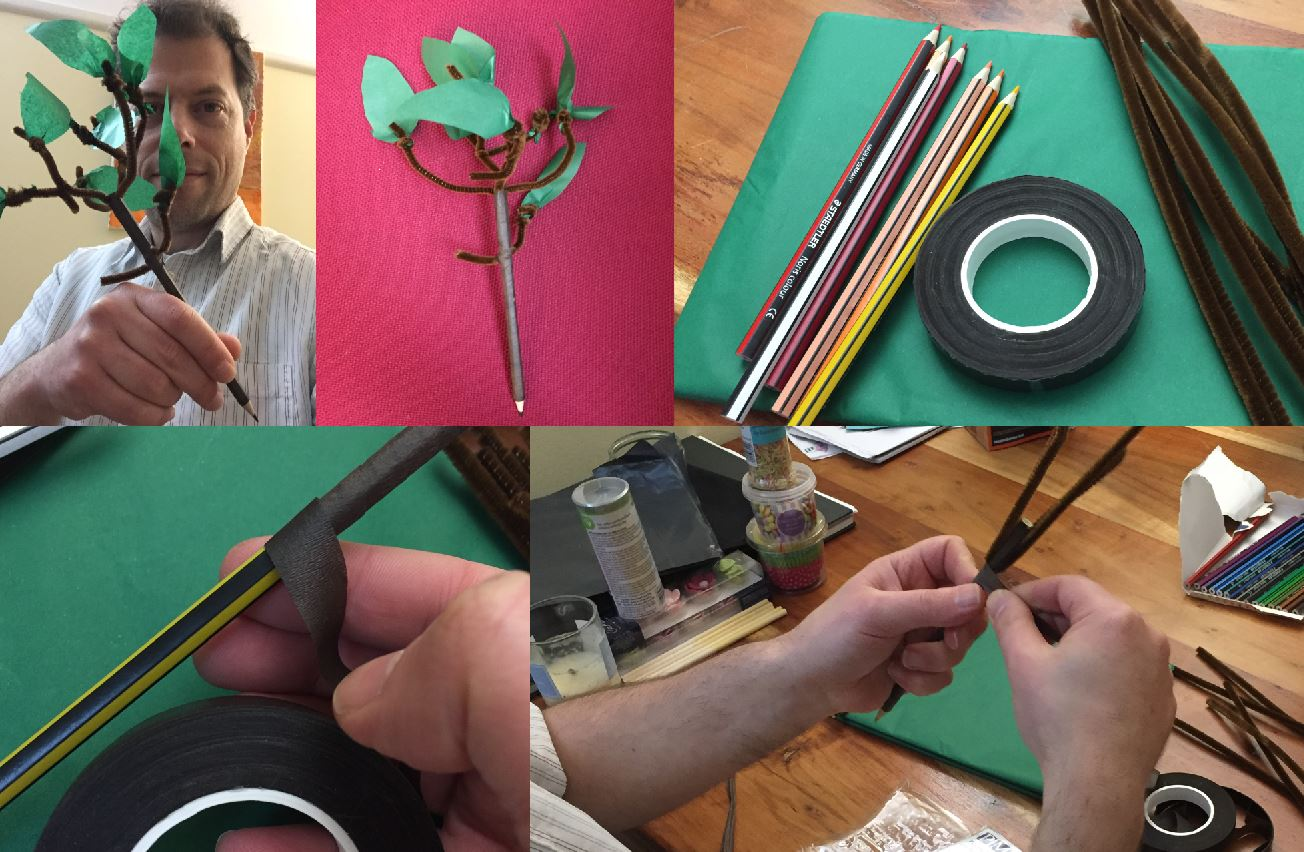 Tu Bishvat Tree Pencil craft