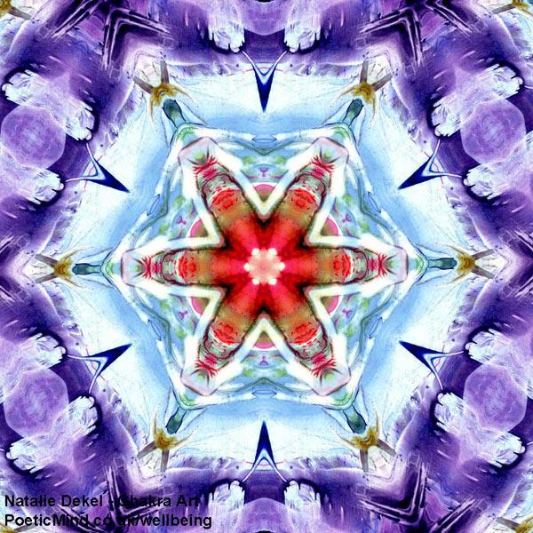 Chakra Art (#3) - by Natalie Dekel. Encaustic Wax technique.