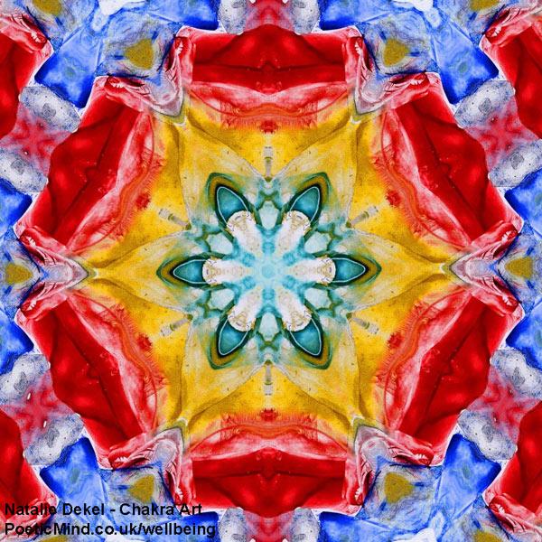 Chakra Art (#15) - by Natalie Dekel. Encaustic Wax technique.