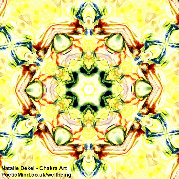 Chakra Art (#19) - by Natalie Dekel. Encaustic Wax technique.‎