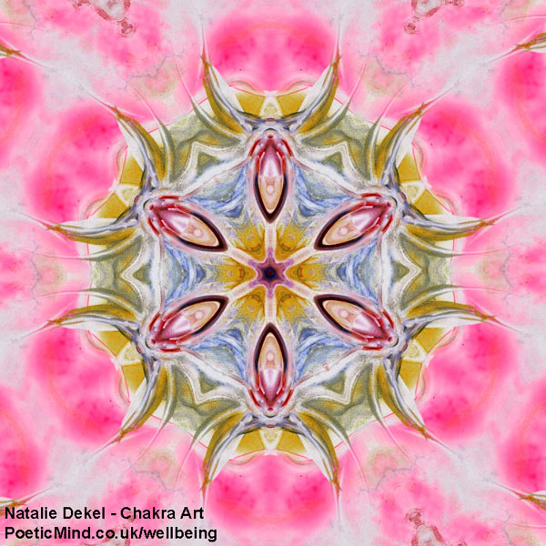 Chakra Art (#26) - by Natalie Dekel. Encaustic Wax technique.‎