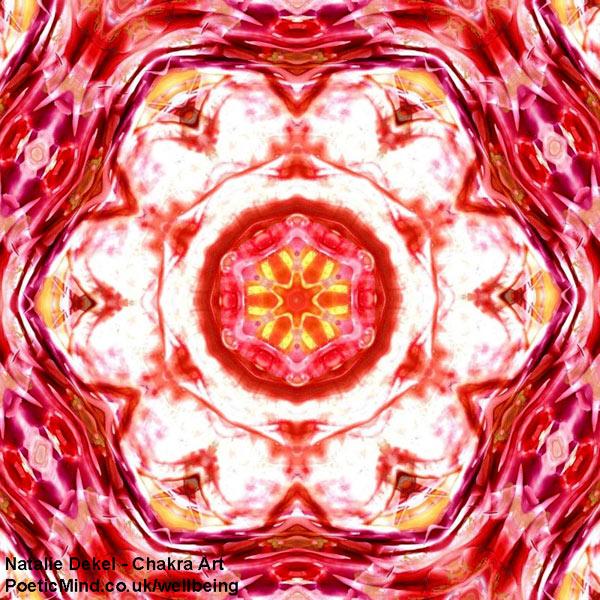 Chakra Art (#29) - by Natalie Dekel. Encaustic Wax technique.