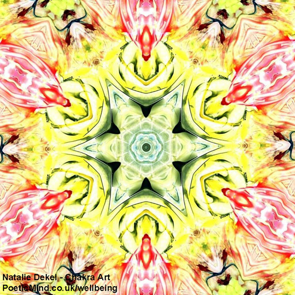 Chakra Art (#51) - by Natalie Dekel. Encaustic Wax technique.