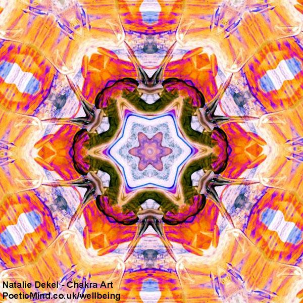 Chakra Art (#71) - by Natalie Dekel. Encaustic Wax technique.