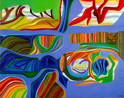 Figure 6: Próximos Cambios, New Times, (80 x 100 cm), oils, 1998.