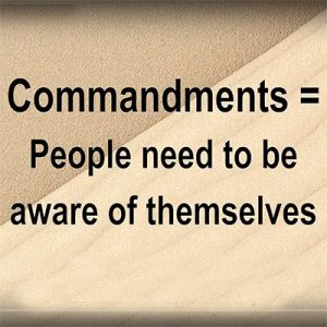Shavuot commemorates the ancient story of receiving the Ten Commandments. Commandments are applicable only to people that aware of themselves thus can accept (or not accept) commands.