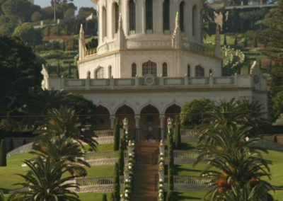 Golden dome of the Bahá'í World Centre. Haifa, Israel. (Photo: Gil Dekel, 2015).