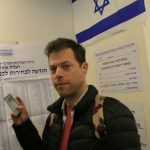 We found out that we arrived on the election day. I decided to go and vote, but came to the wrong polling station. Haifa, Israel. (Photo: Yael Dekel, 2019).