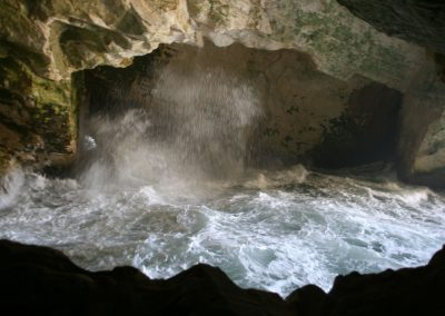 Rosh HaNikra. Caves and tunnels formed by the sea in the soft chalk rock. Israel. (Photo: Gil Dekel, 2019).