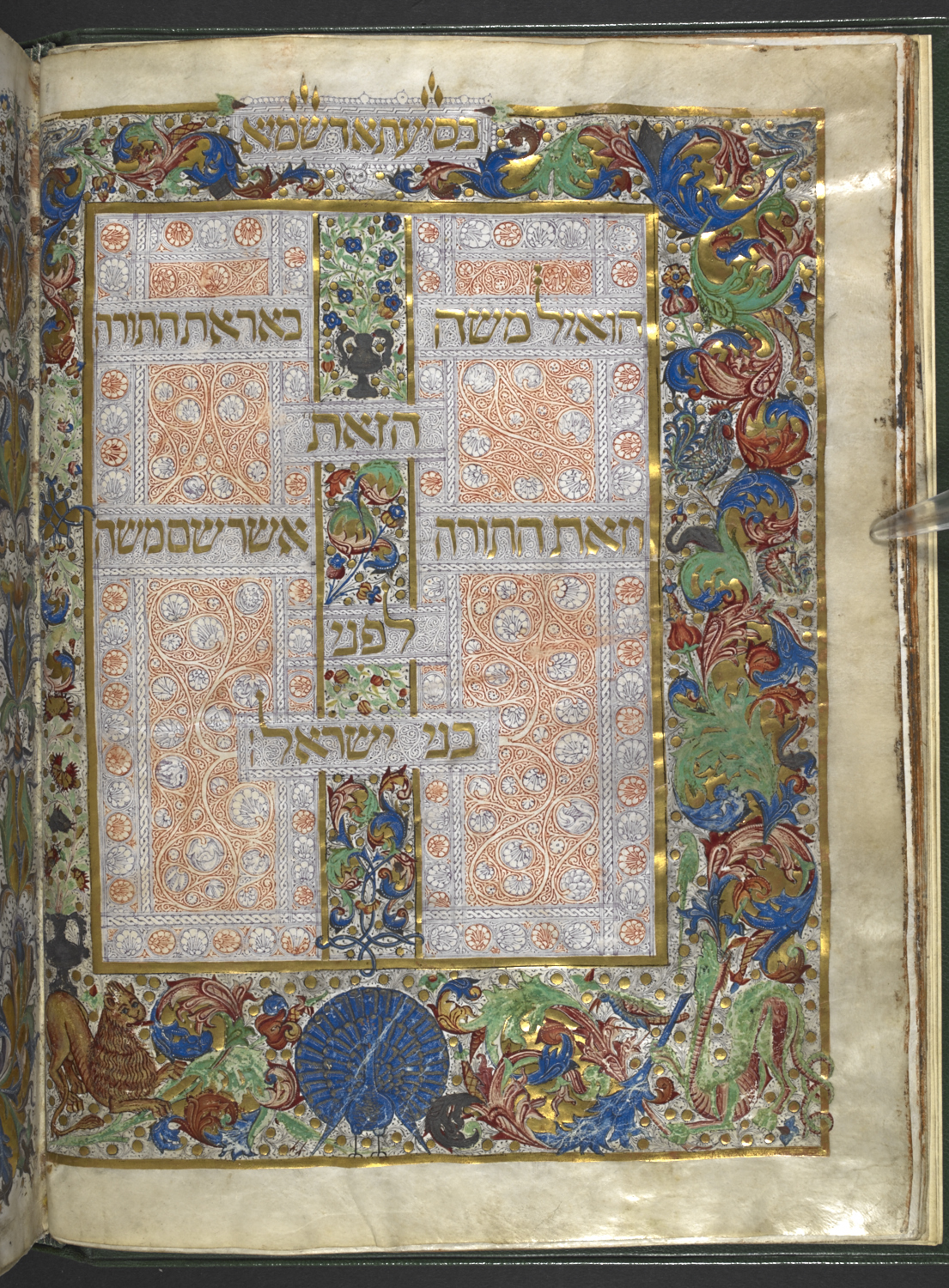 Excerpts from Maimonides' Code of Law, embellished with sumptuous full-border illuminations. Mishneh Torah, Lisbon, 1472 CE (Harley MS 5698).